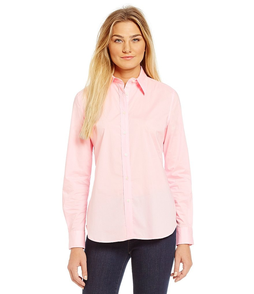 Lauren Ralph Lauren Petite Stretch Cotton Shirt