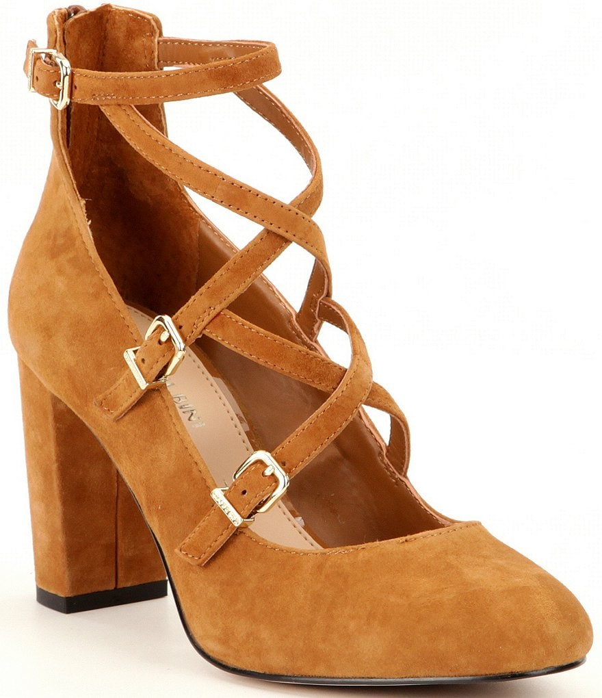 Gianni Bini Karetta Strappy Suede Mary Jane Pumps