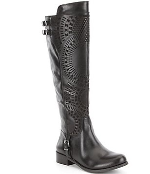 Gianni Bini Ellison Lasercut Riding Boots