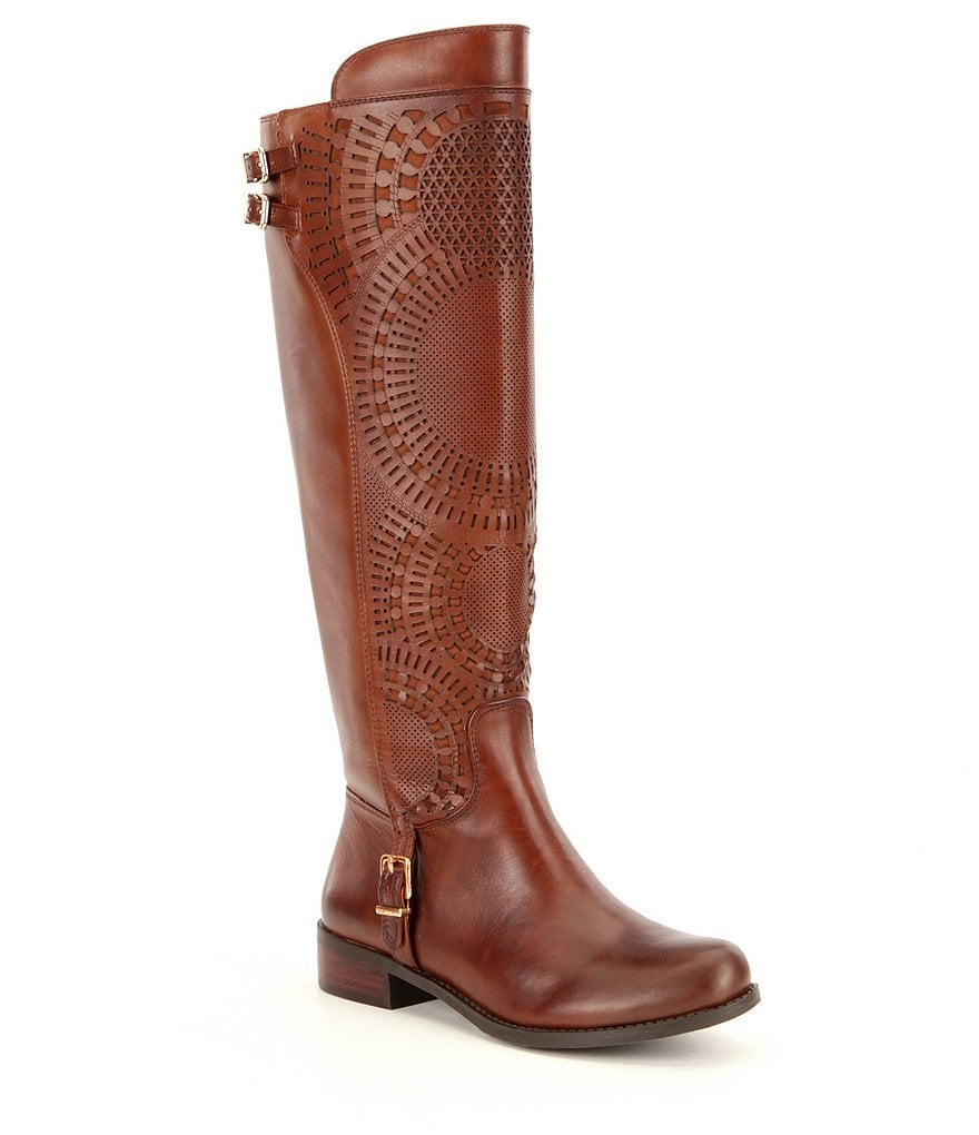 Gianni Bini Ellison Lasercut Slim Shaft Riding Boots