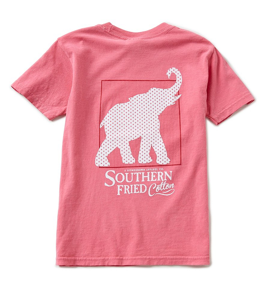 Southern Fried Cotton Big Boys 8-20 Red, White & Elephant Short-Sleeve Tee