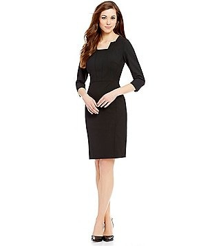 Antonio Melani Playing Favorites Mila Square Neck Sheath Dress