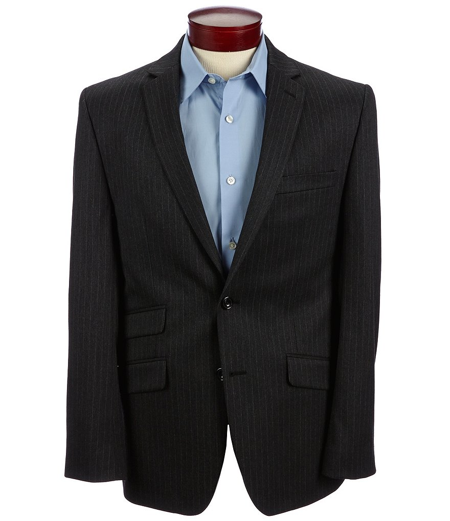 Murano Manhattan Collection Slim-Fit Pin Stripe Blazer