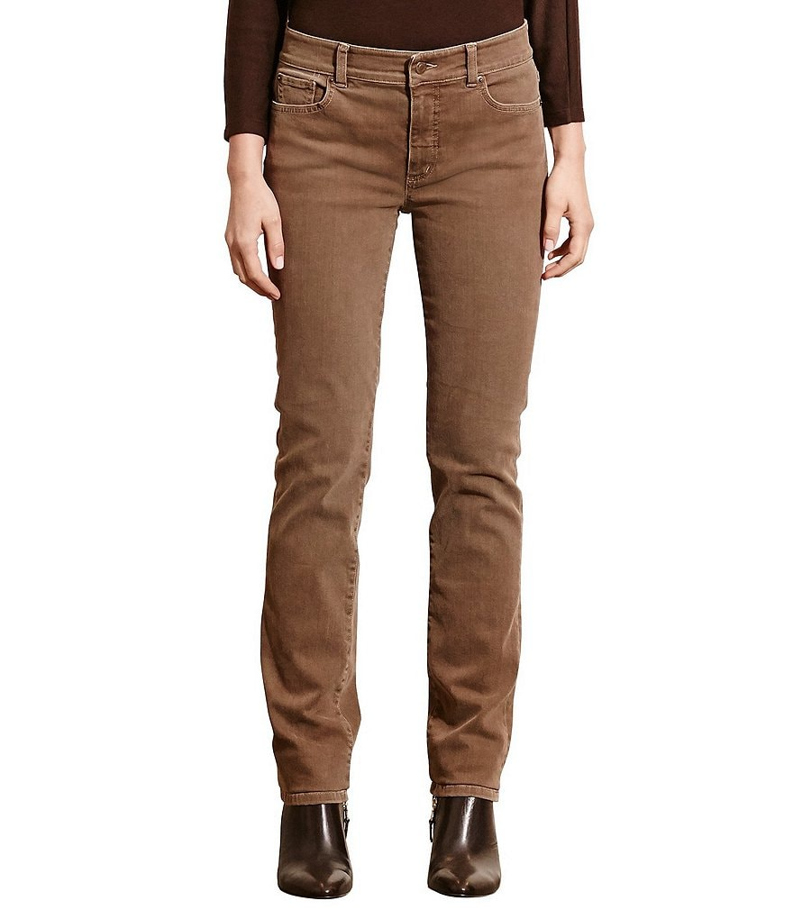 Lauren Ralph Lauren Premier Stretch Denim Straight-Leg Jeans