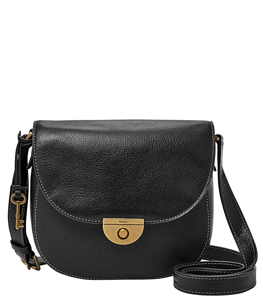 Fossil Emi Pebbled Leather Saddle Bag