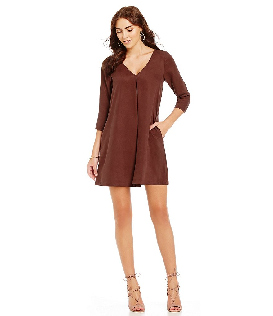 Michael Stars V-Neck Swing Dress