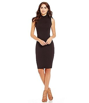 Michael Stars Cameron Fitted Midi Dress
