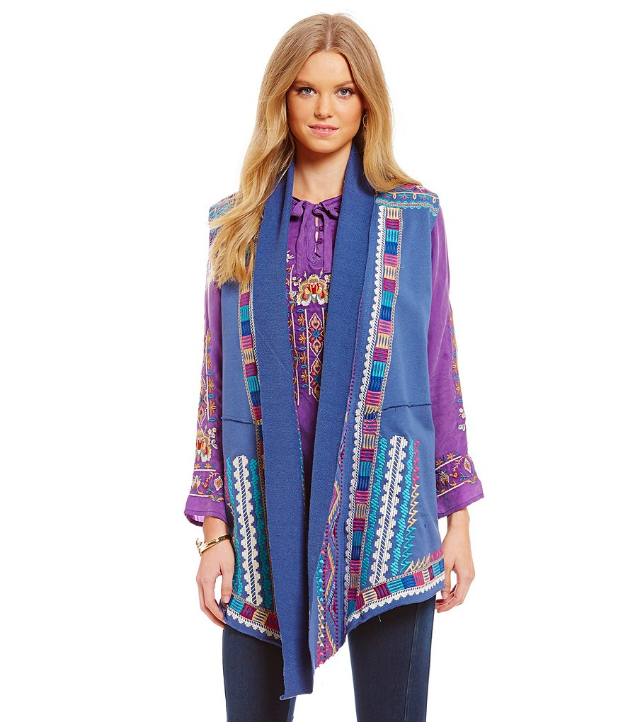 James Bryan Embroidered Vest