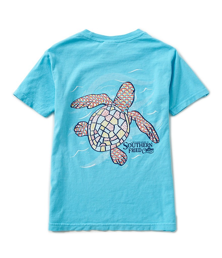 Southern Fried Cotton Big Boys 8-20 Baby Sea Turtle Graphic Short-Sleeve Tee