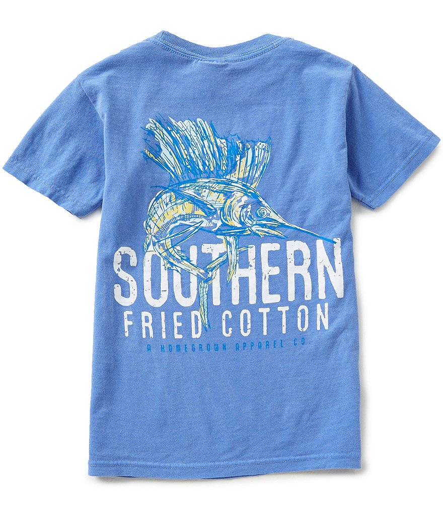 Southern Fried Cotton Big Boys 8-20 Southern Sail Fish Short-Sleeve Graphic Tee