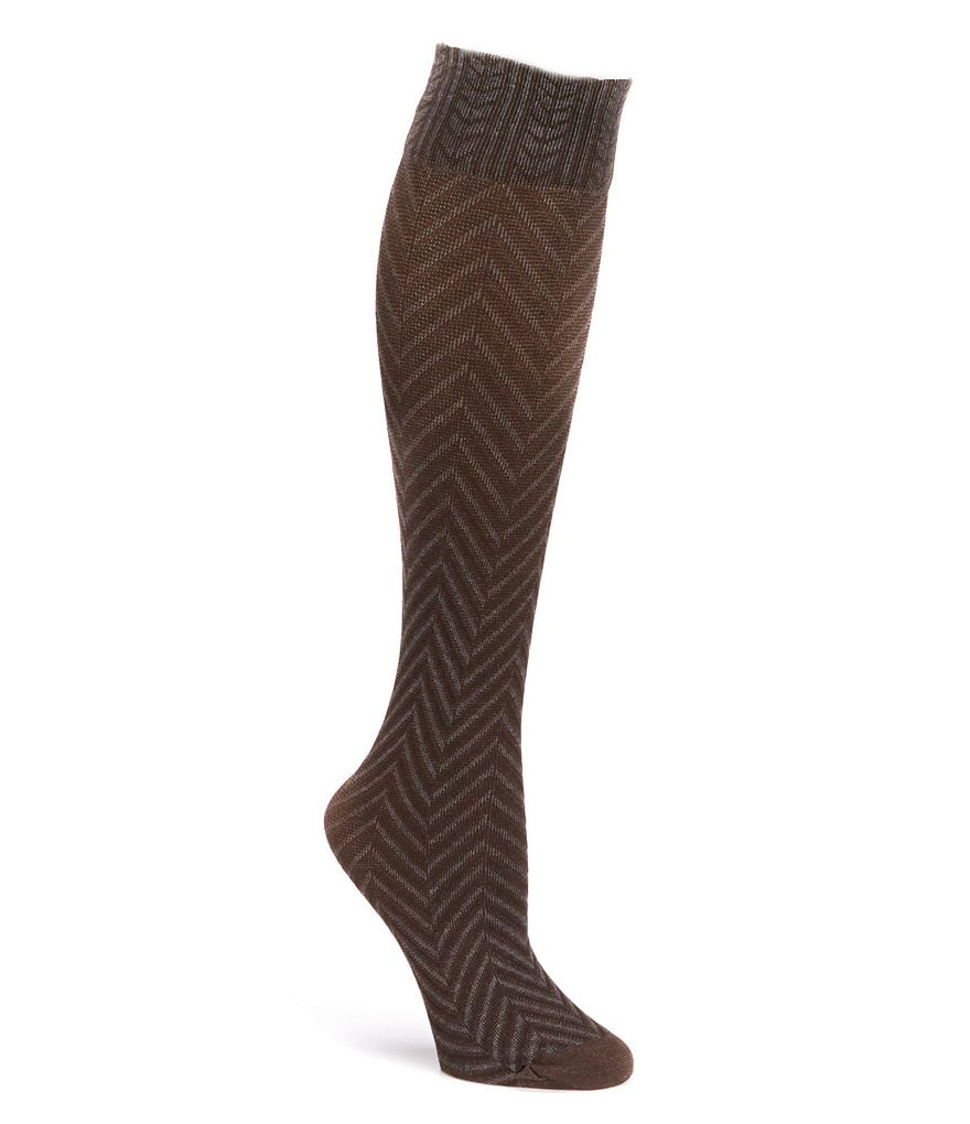 HUE Chevron Opaque Boot Tights