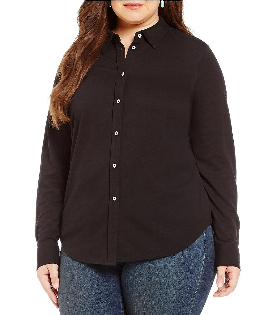 Lauren Ralph Lauren Plus Cotton Piqué Shirt
