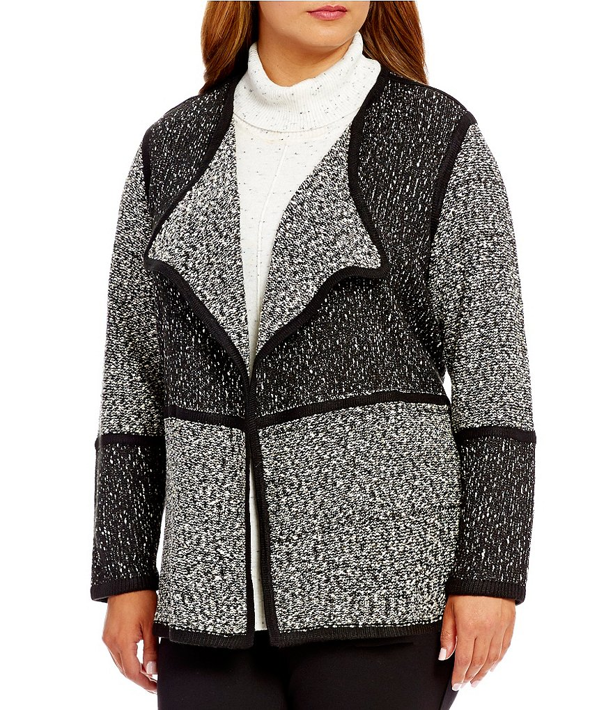 Calvin Klein Plus Blocked Flyaway Sweater