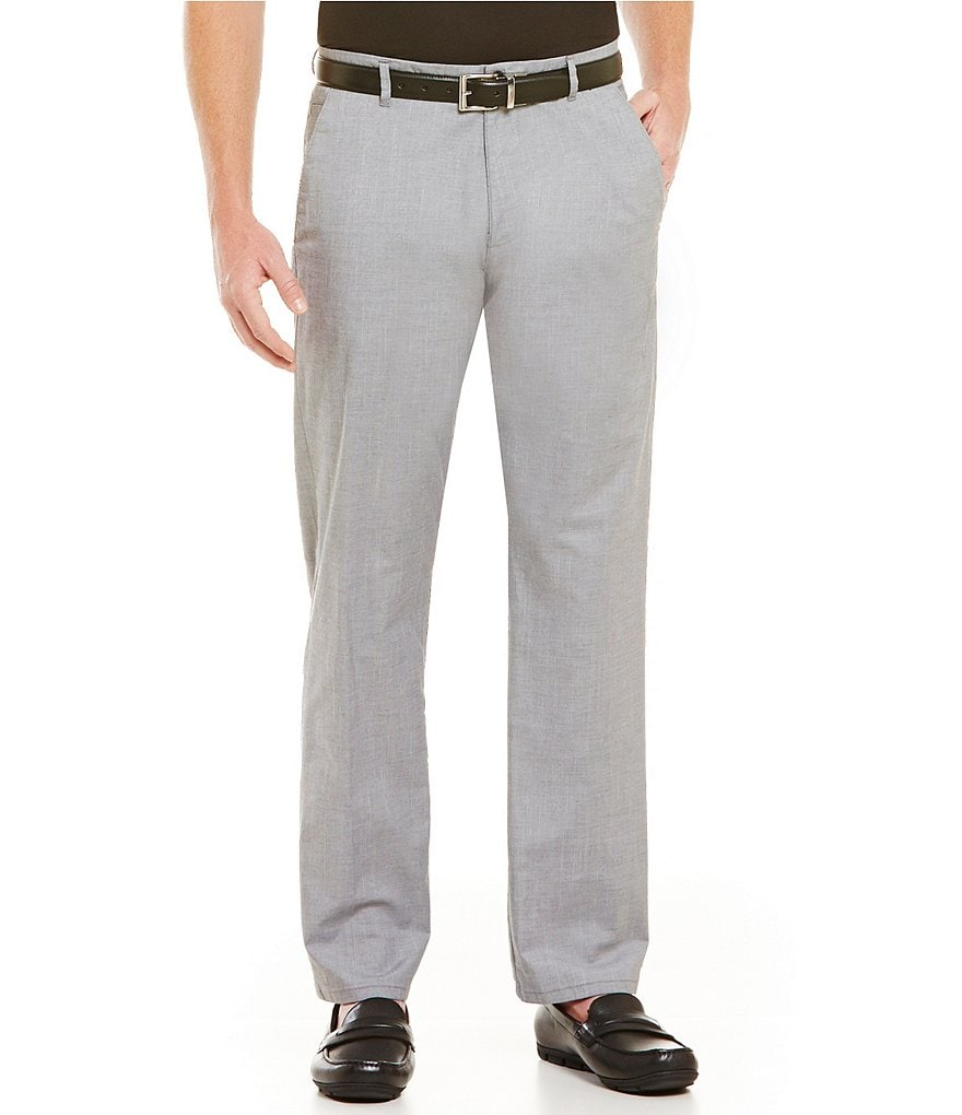 Calvin Klein Casual-Fit Flat-Front Twill Pants