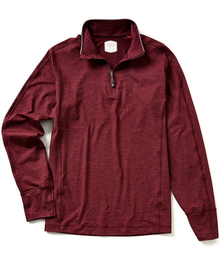 Cremieux Long-Sleeve Quarter-Zip Performance Polo Shirt