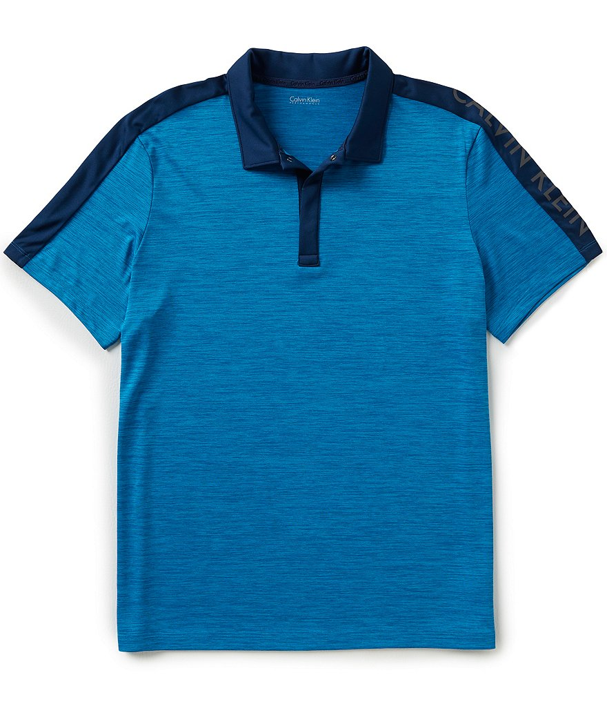 Calvin Klein Short-Sleeve Jersey Polo Shirt