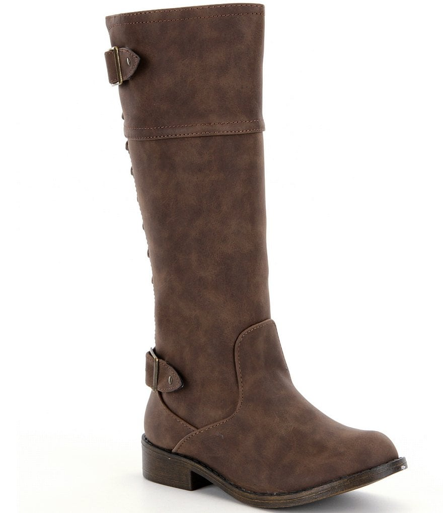 Steve Madden Girls´ JRomaa Lace-Up Riding Boots