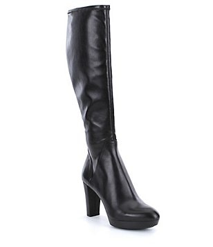 Donald J Pliner Echoe Leather Slip On Tall Stretch Boots