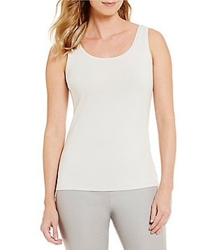 ZOZO Scoop Neck Solid Knit Stretch Tank Top