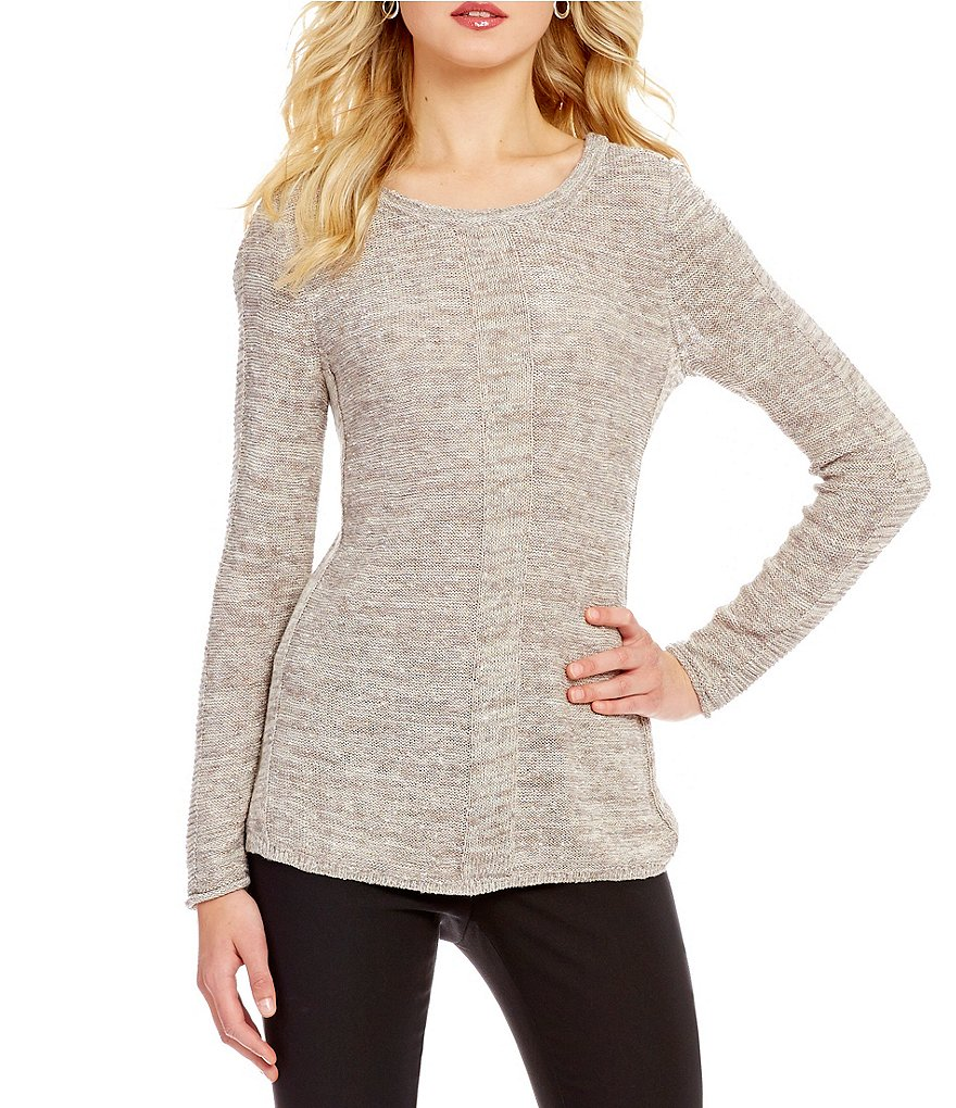 ZOZO Vail Crew Neck Long Sleeve Pullover Solid Knit Sweater