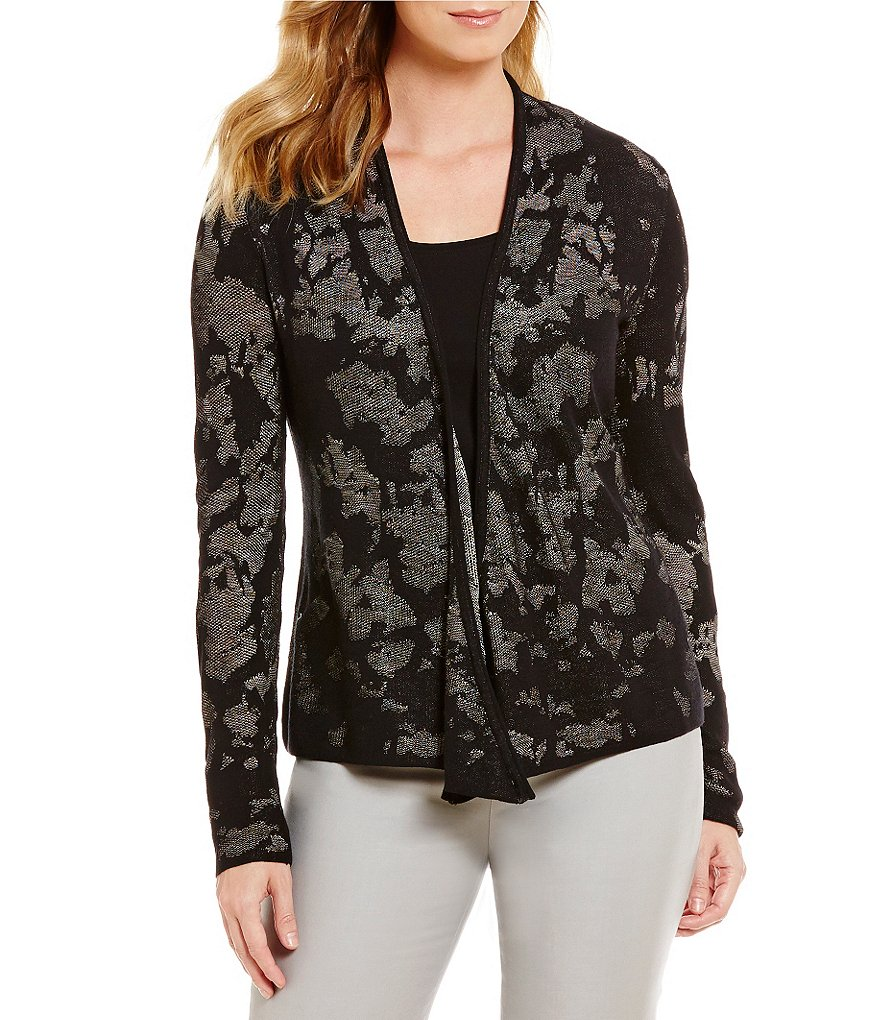 ZOZO 4-Way Shawl Collar Open Front Printed Mystique Cardigan