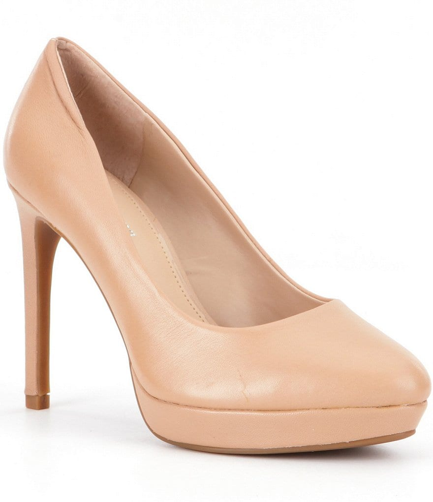 Gianni Bini Leighanne Leather Platform Pumps