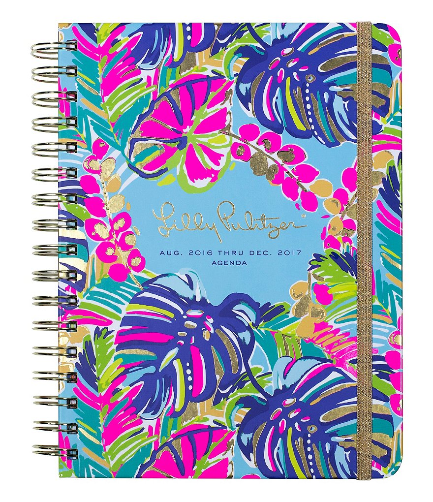 Lilly Pulitzer Exotic Garden Hard Cover Large Agenda