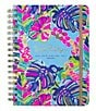 Color:Blue - Image 1 - Lilly Pulitzer Exotic Garden Hard Cover Large Agenda