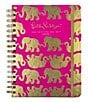 Color:Pink - Image 1 - Lilly Pulitzer Tusk In Sun Metallic Elephant Large 2016-2017 Agenda