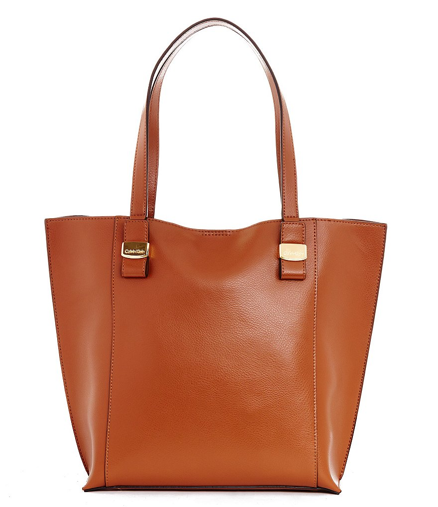 Calvin Klein Olympia Pebble Leather Tote