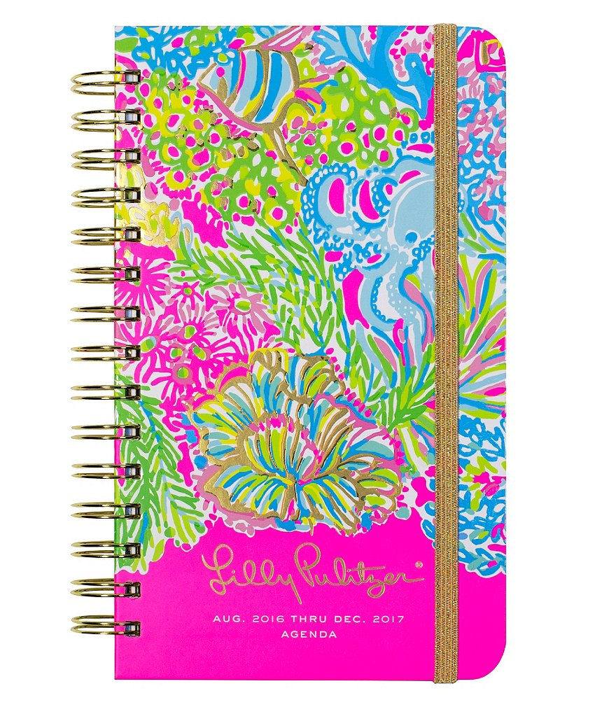 Lilly Pulitzer Lover´s Coral Medium 2016-2017 Agenda