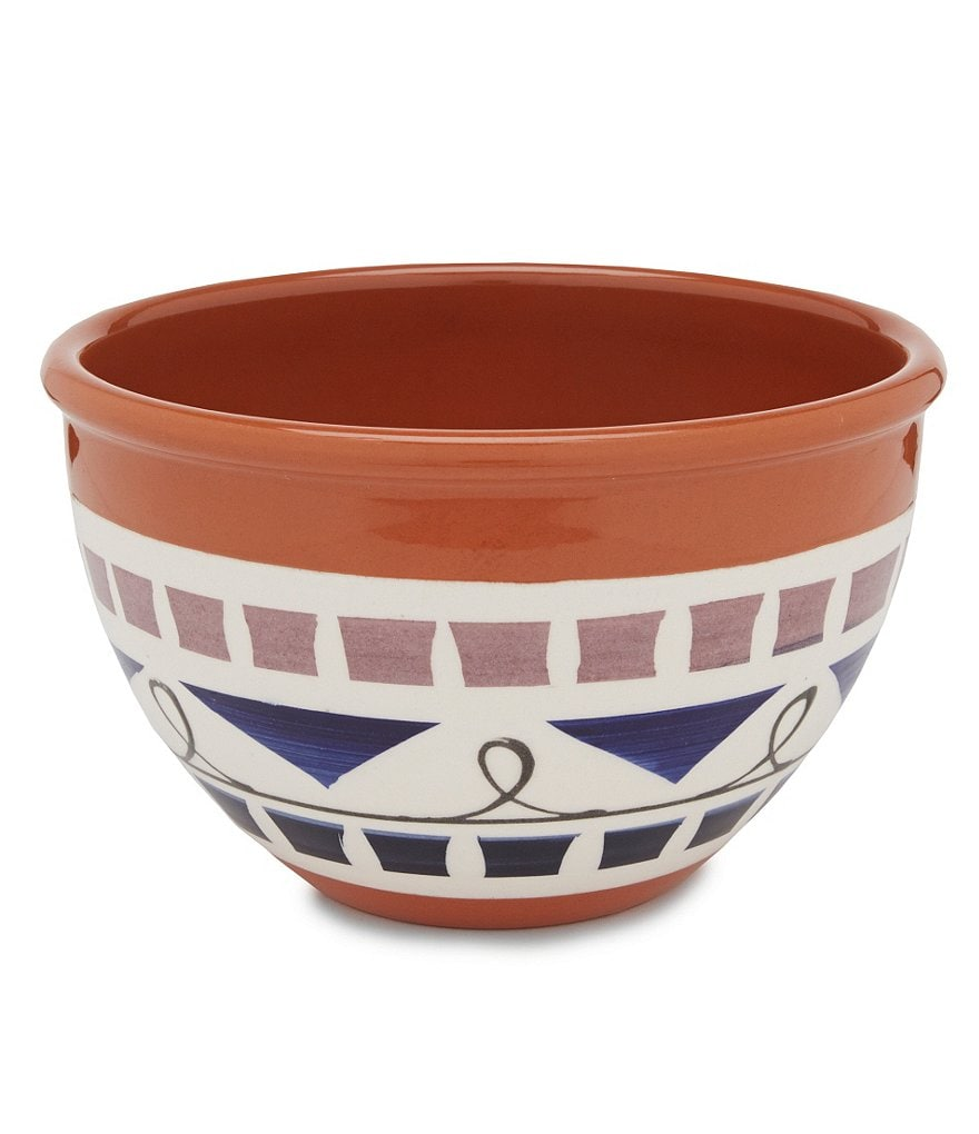 Tru Chef Hand-Painted Terracotta Mixing Bowl