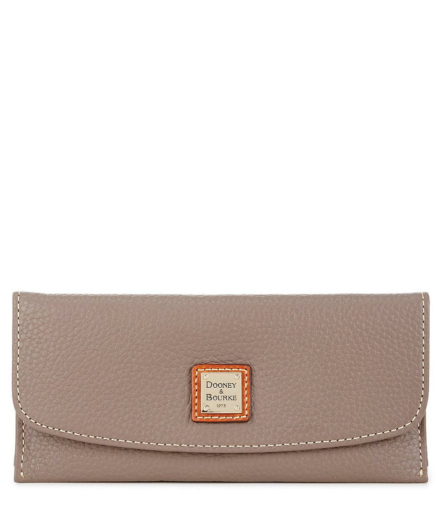 Dooney & Bourke Pebble Collection Slim Continental Clutch