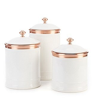 Southern Living 3-Piece Aluminum Canister Set