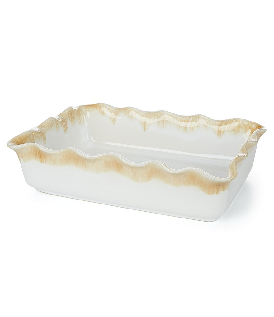 Southern Living Scalloped Stoneware Rectangular Baker