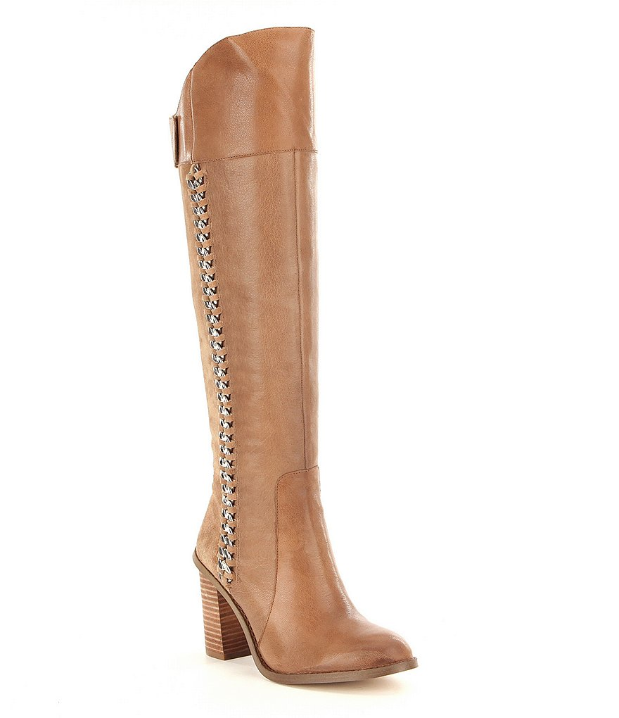 Gianni Bini Shonna Chain Wide Shaft Boots