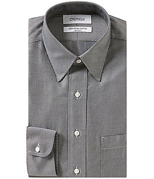 Cremieux Non-Iron Fitted Classic-Fit Point-Collar Diagonal-Striped Dress Shirt