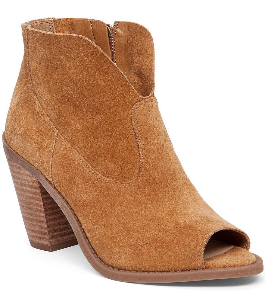 Jessica Simpson Chalotte Peep-Toe Ankle Boots