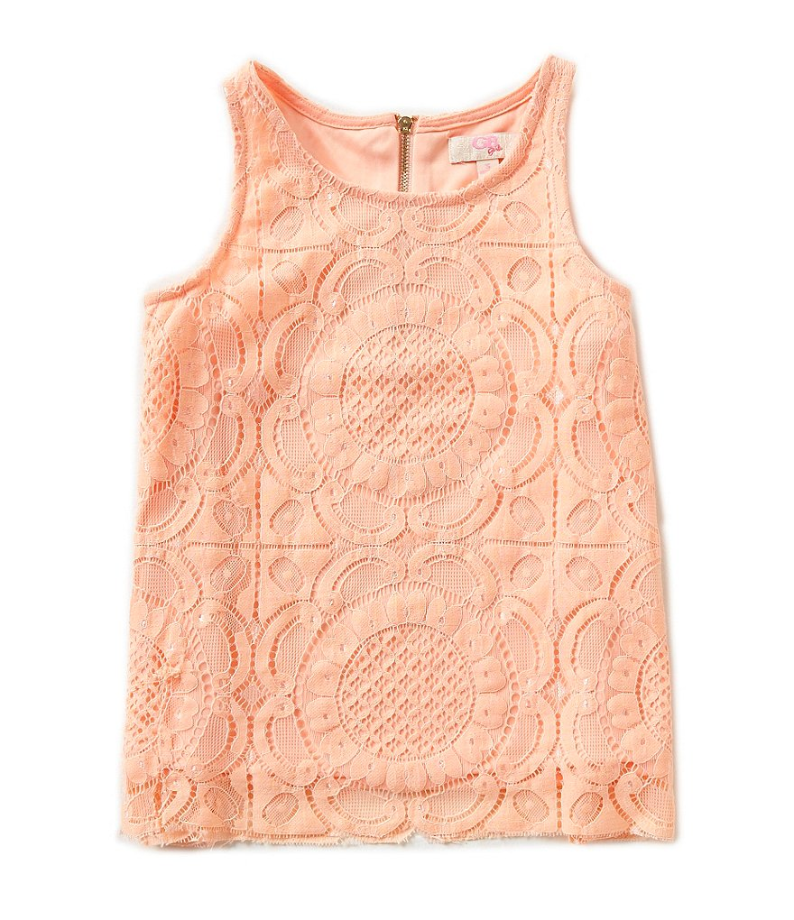 GB Girls Big Girls 7-16 Medallion Lace Tank