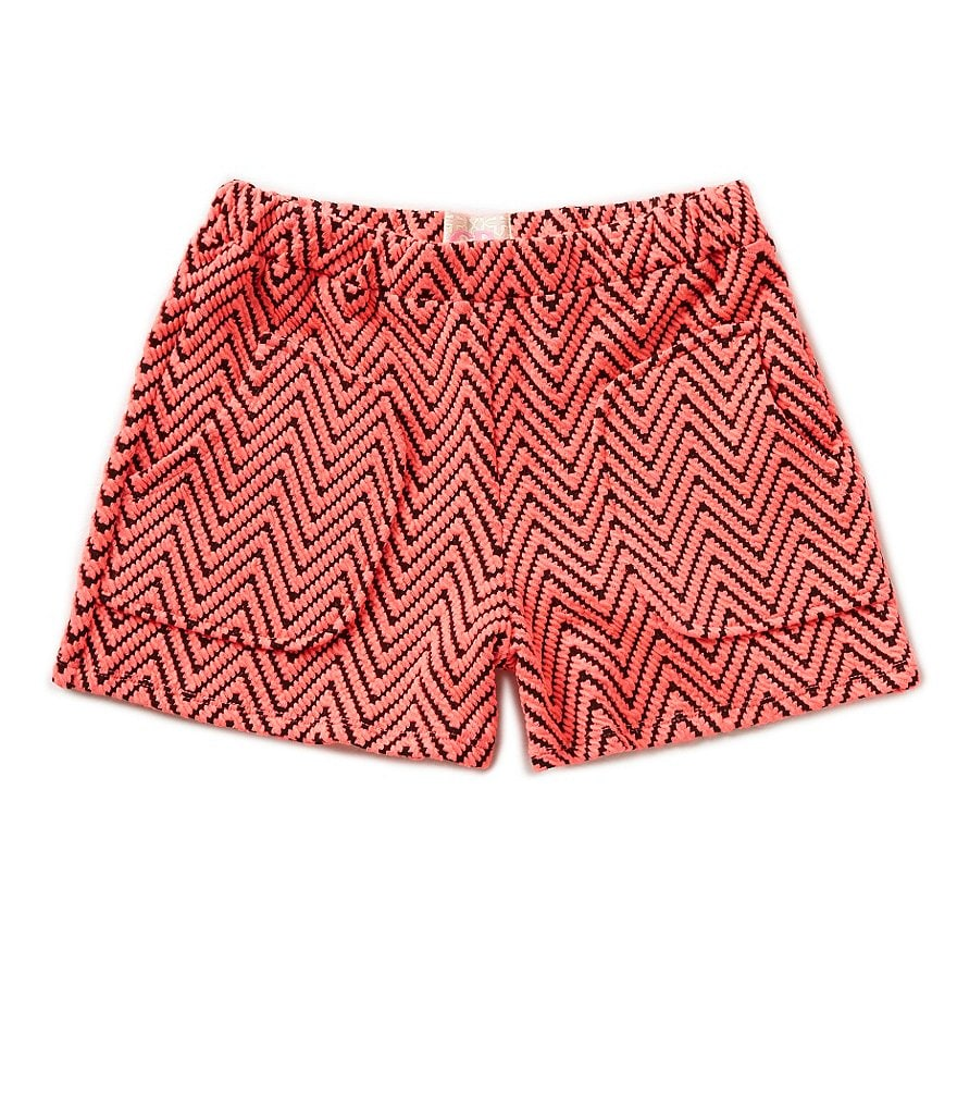 GB Girls Big Girls 7-16 Double Knit Chevron Shorts