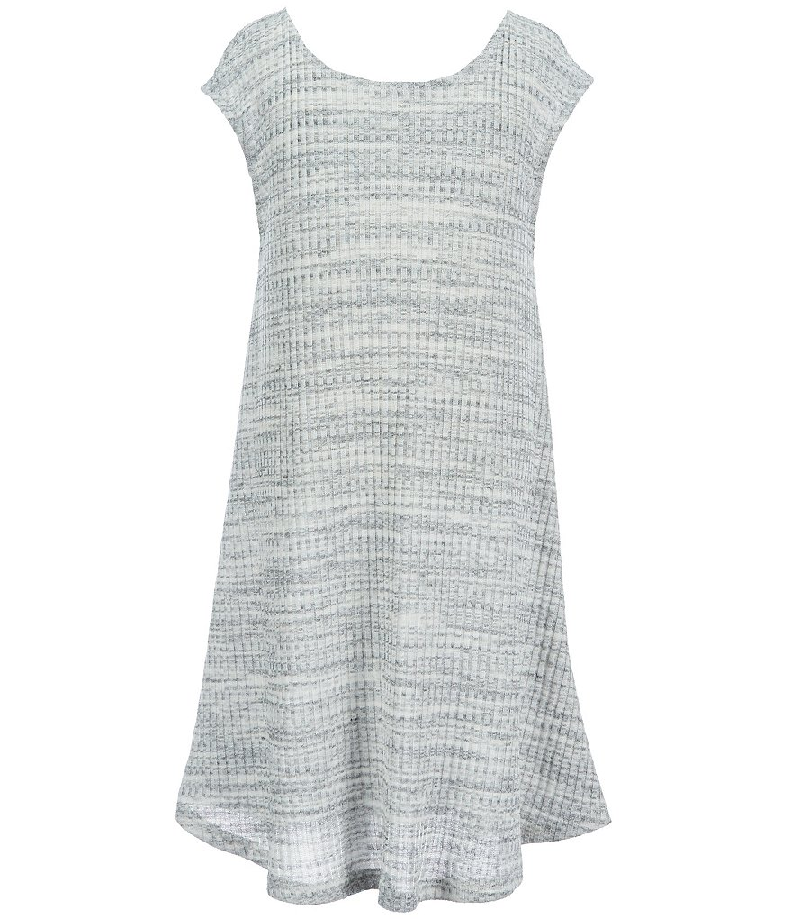 GB Girls Big Girl 7-16 Rib Knit Trapeze Dress