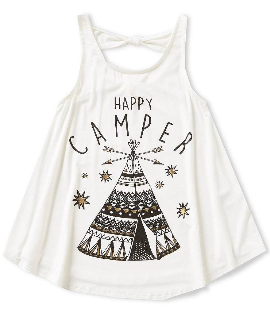 GB Girls Big Girls 7-16 Happy Camper Tank