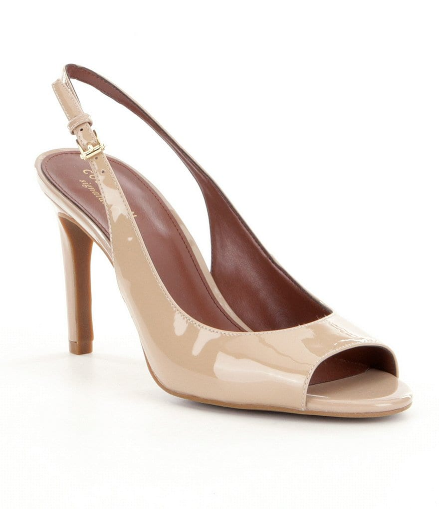 Cole Haan Juliana Open Toe Slingback Pumps