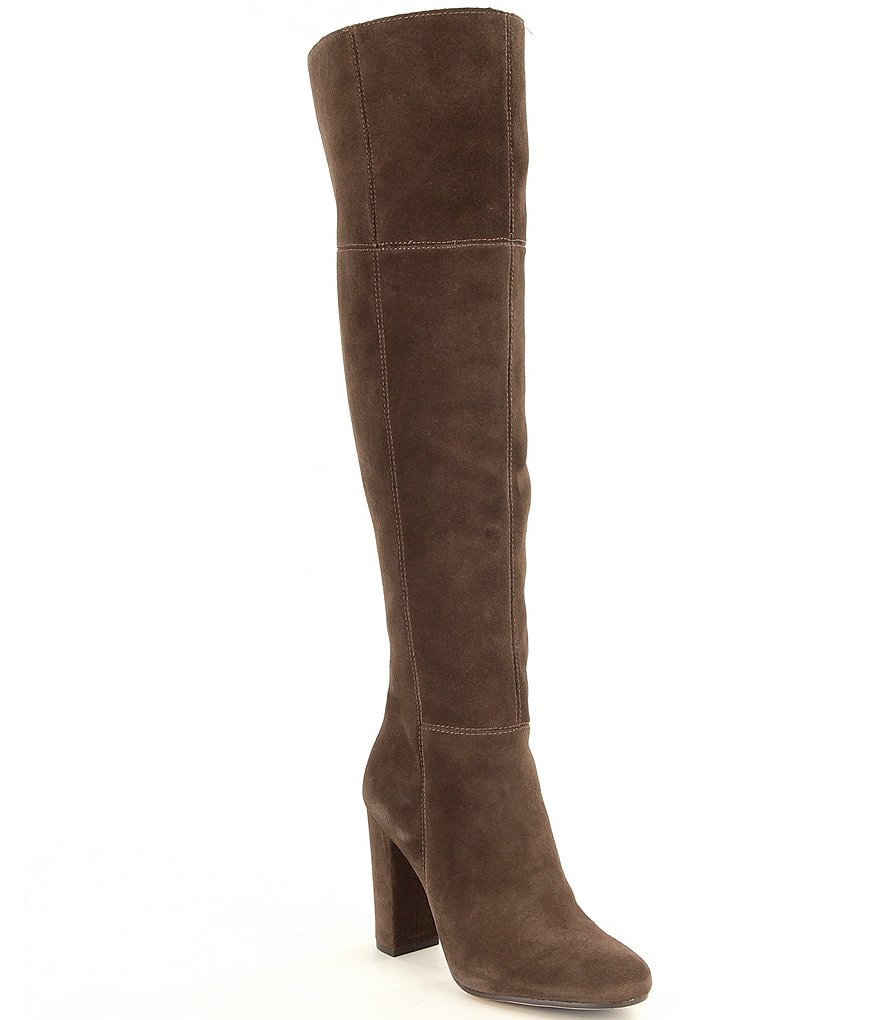 Gianni Bini Ventah Suede Slim Shaft Over The Knee Boots