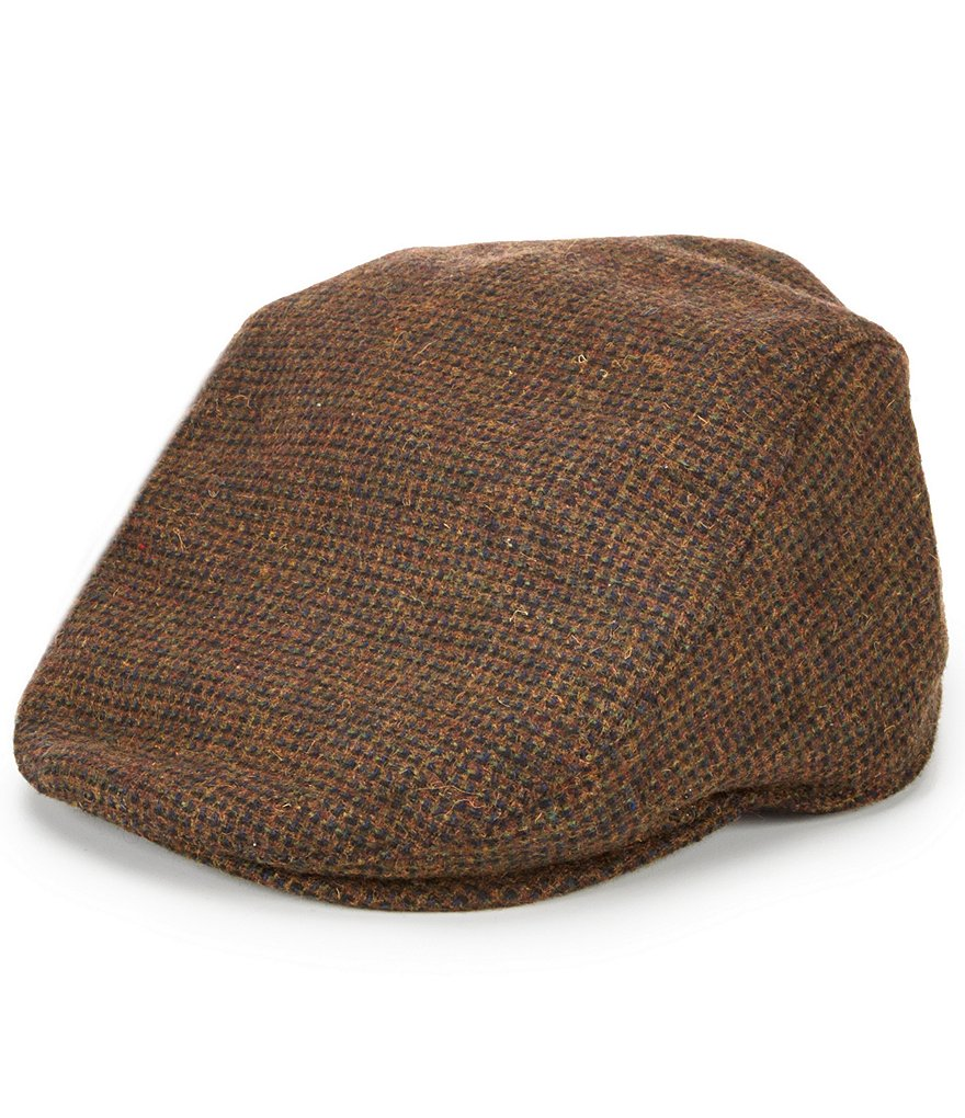 Cremieux Wool Houndstooth Driver Hat