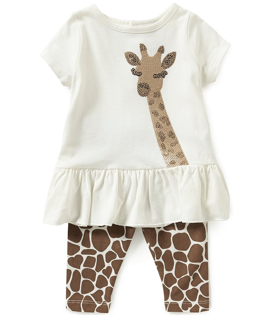 Starting Out Baby Girls 3-24 Months Sequined Giraffe Tunic & Leggings Set