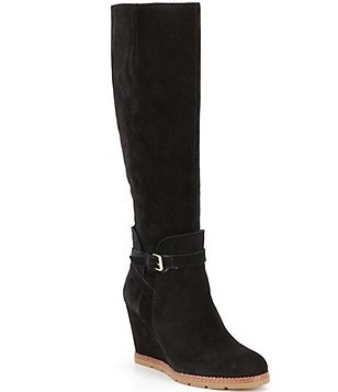 kate spade new york Surie Suede Tall Wedge Boots