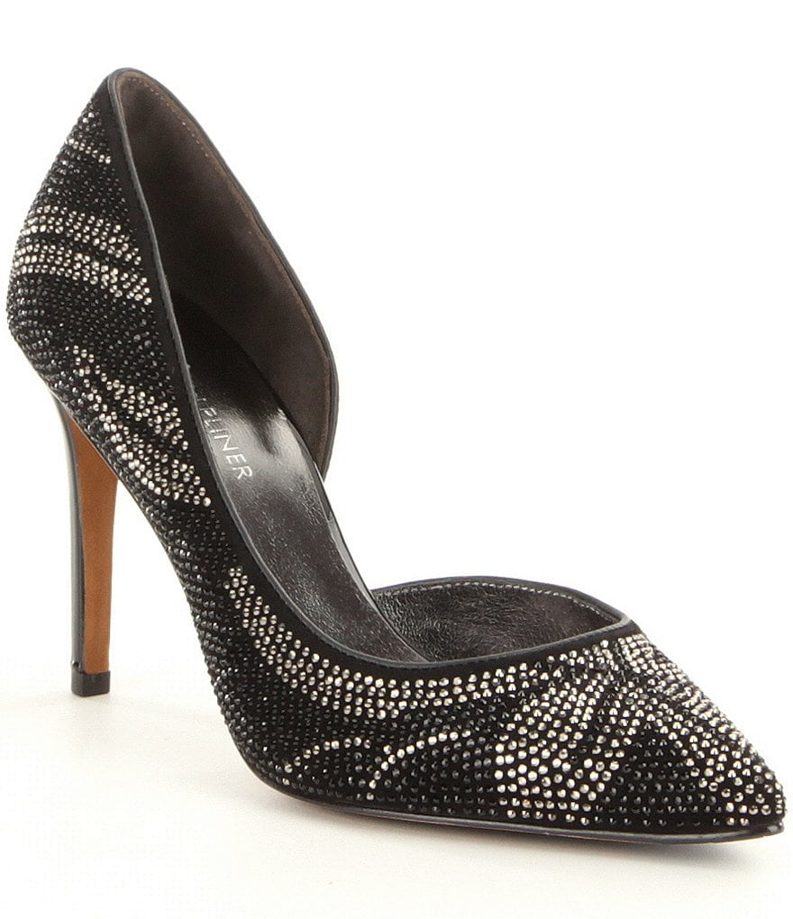 Donald J Pliner Keara Pointed Toe D´Orsay Beaded Pumps