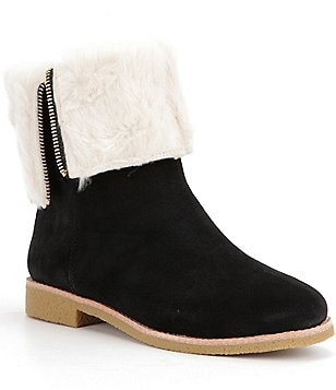 kate spade new york Baja Suede Faux Fur Lined Fold-Over Boots