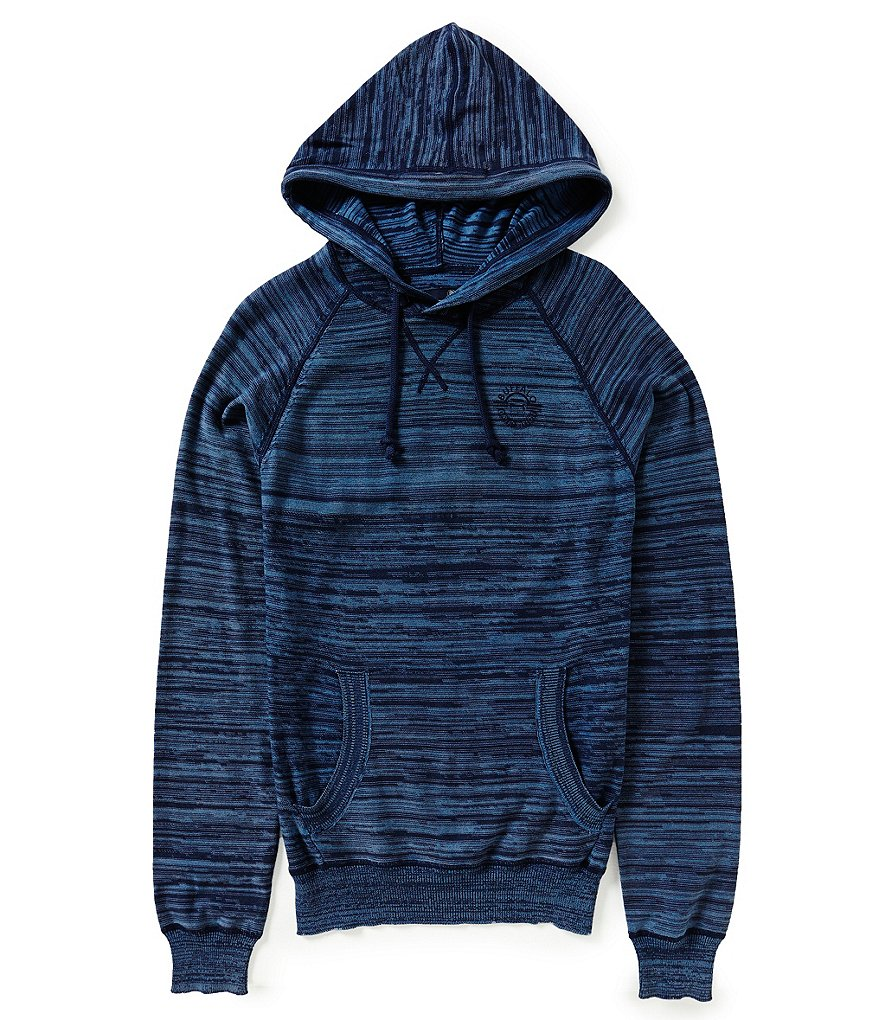 Buffalo David Bitton Watext Space-Dyed Reverse-Knit Hoodie Sweater
